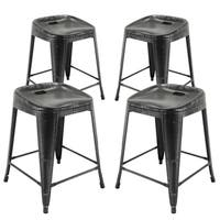 Vogue Furniture Direct Metals Fully Assembled 24-inch Backless Barstools (Set of 4)