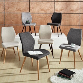 iNSPIRE Q Abelone Contour Upholstered Dining Chairs (Set of 2) (As Is Item)
