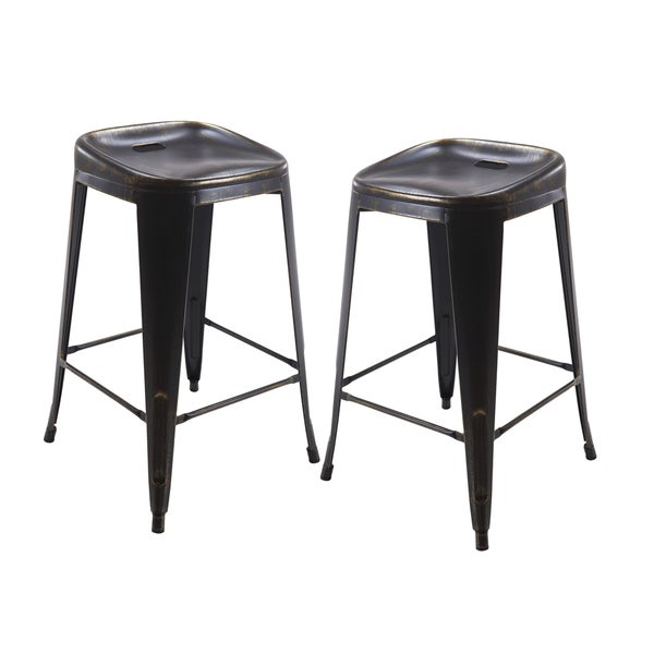 Shop Vogue Furniture Direct Metals 30 Inch Backless Bar Stool Set