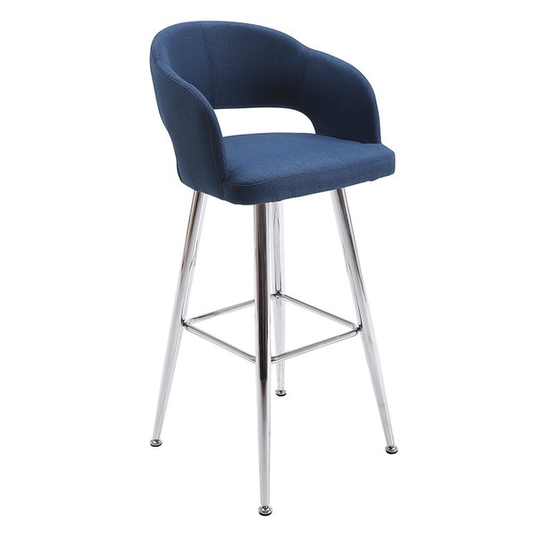 Shop Furniture Direct: Shop Vogue Furniture Direct Contemporary Blue Fabric