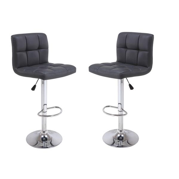 Shop Furniture Direct: Shop Vogue Furniture Direct Black/Chrome Faux Leather