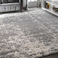 Porch & Den Williamsburg Seigel Granite Mist Shades Grey/ Off White Area Rug (6'7 x 9')