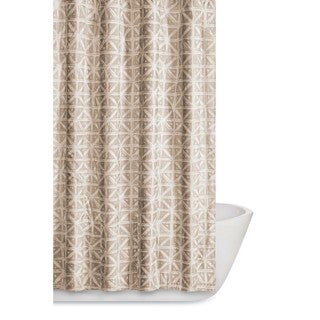 Truly Soft Celine Geometric Printed Shower Curtain