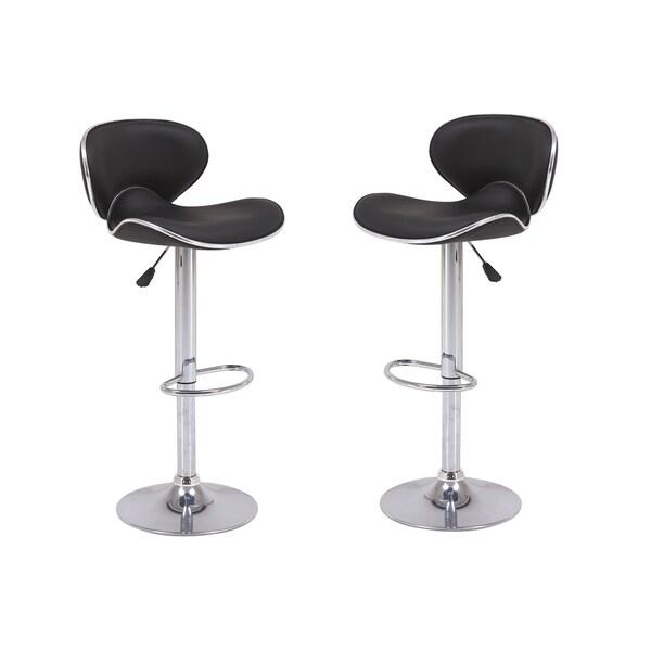 Shop Furniture Direct: Shop Vogue Furniture Direct Black Adjustable-height Swivel