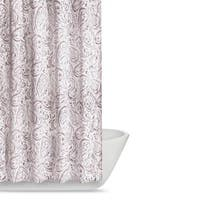 Truly Soft Watercolor Paisley Printed Shower Curtain