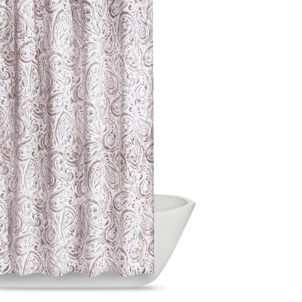 Beau Truly Soft Watercolor Paisley Printed Shower Curtain