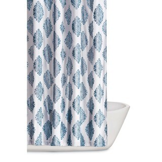 Truly Soft Annika Damask Printed Shower Curtain