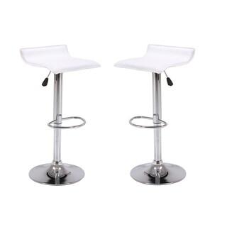 Vogue Furniture Direct Adjustable Height Swivel Barstools with Footrest (Set of 2)