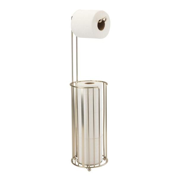 Toilet Tissue Reserve W/ Dispenser - Flat Stripe Wire