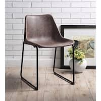 ACME Valgus Side Chair in Vintage Mocha, Set of 2