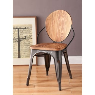 Link to ACME Rayne Side Chair in Gunmetal and Natural, Set of 2 Similar Items in Dining Room & Bar Furniture
