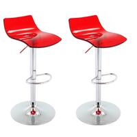 Vogue Furniture Direct Adjustable Arcylic Barstool (Set of 2)