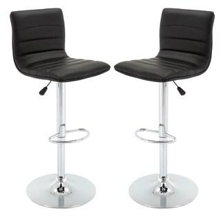 Vogue Furniture Direct Adjustable Leather Barstool (Set of 2)