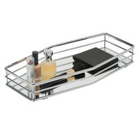 Double Rail Vanity Mirror Tray 14x7 - Chrome