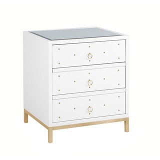 Chic Home Arezzo Mirrored 3-drawer Self-closing Nightstand