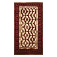 Handmade Herat Oriental Afghan Hand-knotted Tribal Gabbeh Wool Rug  - 3'5 x 5' (Afghanistan)