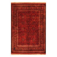 Handmade Herat Oriental Afghan Hand-knotted Tribal Khal Mohammadi Wool Rug  - 3'6 x 5'1 (Afghanistan)