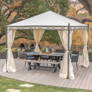 Sicilia Outdoor Steel Gazebo by Christopher Knight Home & Gazebos u0026 Pergolas For Less | Overstock.com
