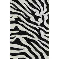 Addison Rugs Malia Black/White Zebra Animal Print Area Rug