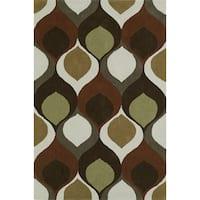 Addison Malia Brown/Rust Bohemian Hourglass Area Rug