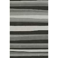 Addison Rugs Malia Grey Striped Area Rug