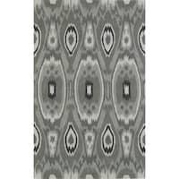 ADDISON Malia Neutral Ikat Gray/Silver Area Rug (9' x 13')