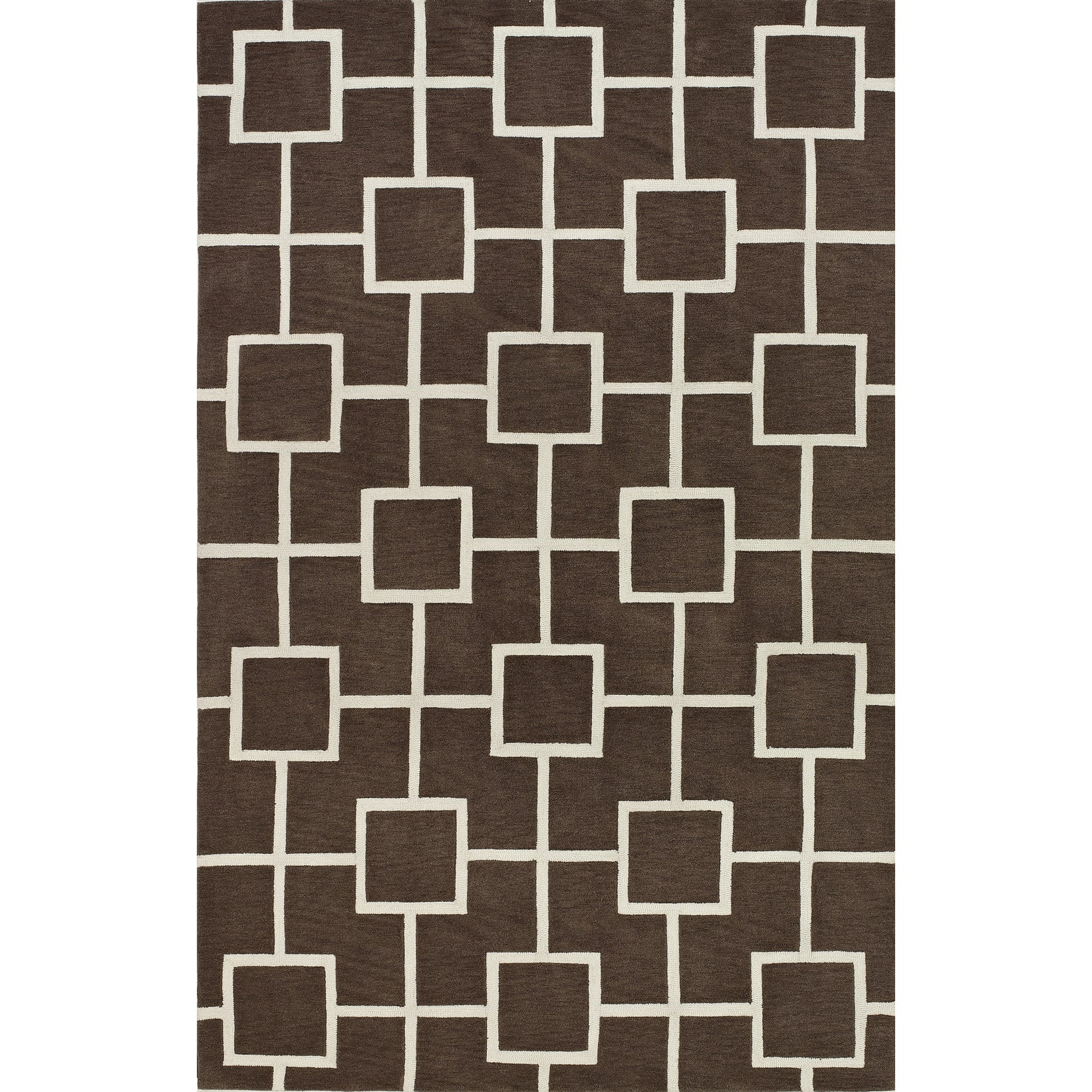 Addison Rugs Optics Square Modern Geometric Brown White Area Rug