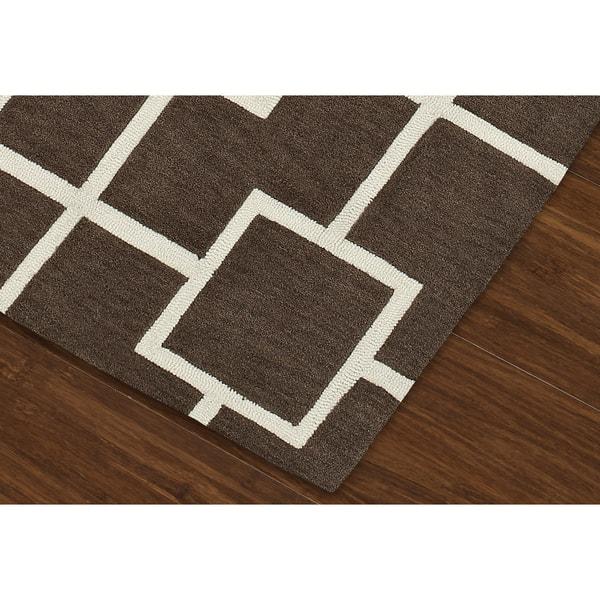 Addison Rugs Optics Square Modern Geometric Brown White Area Rug 8 X10 On Sale Overstock 19210030