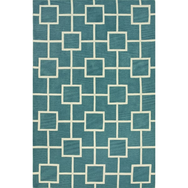 Shop Addison Optics Teal Blue/White Modern Geometric