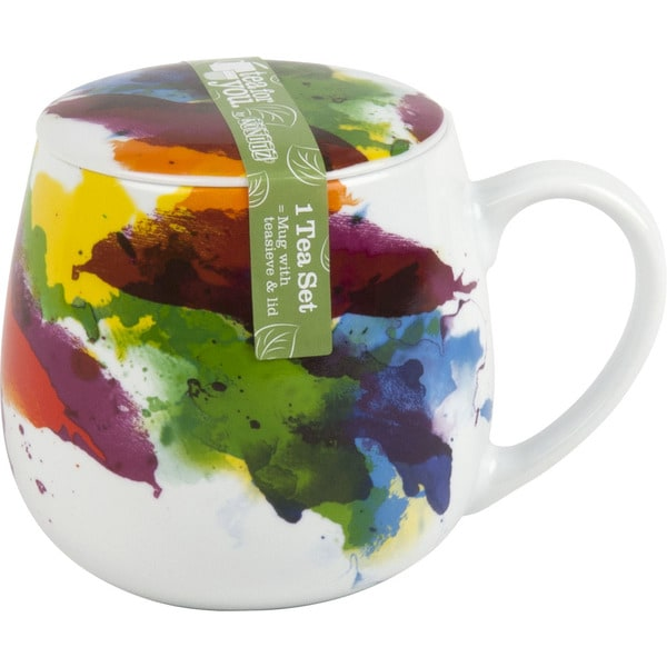 Konitz Set of 3 Tea For One Flow Mugs with Seive and Lid. Opens flyout.