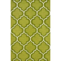 Addison Optics Lime Green/White Moroccan Trellis Area Rug (9' x 13')