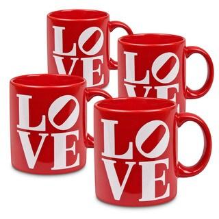 Waechtersbach Fun Factory Set of 6 LOVE Mugs