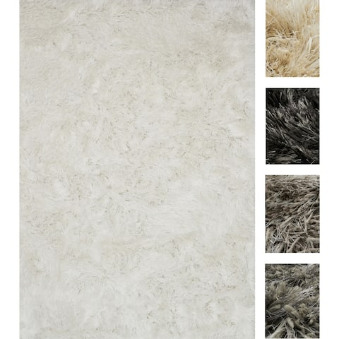 Hand-tufted Contemporary Solid Shag Rug