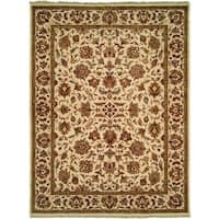 Lateef Hand-knotted Ivory Wool Area Rug - 6' Round