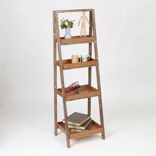 Etagere Maple Finish Wood 60-inch Bookcase