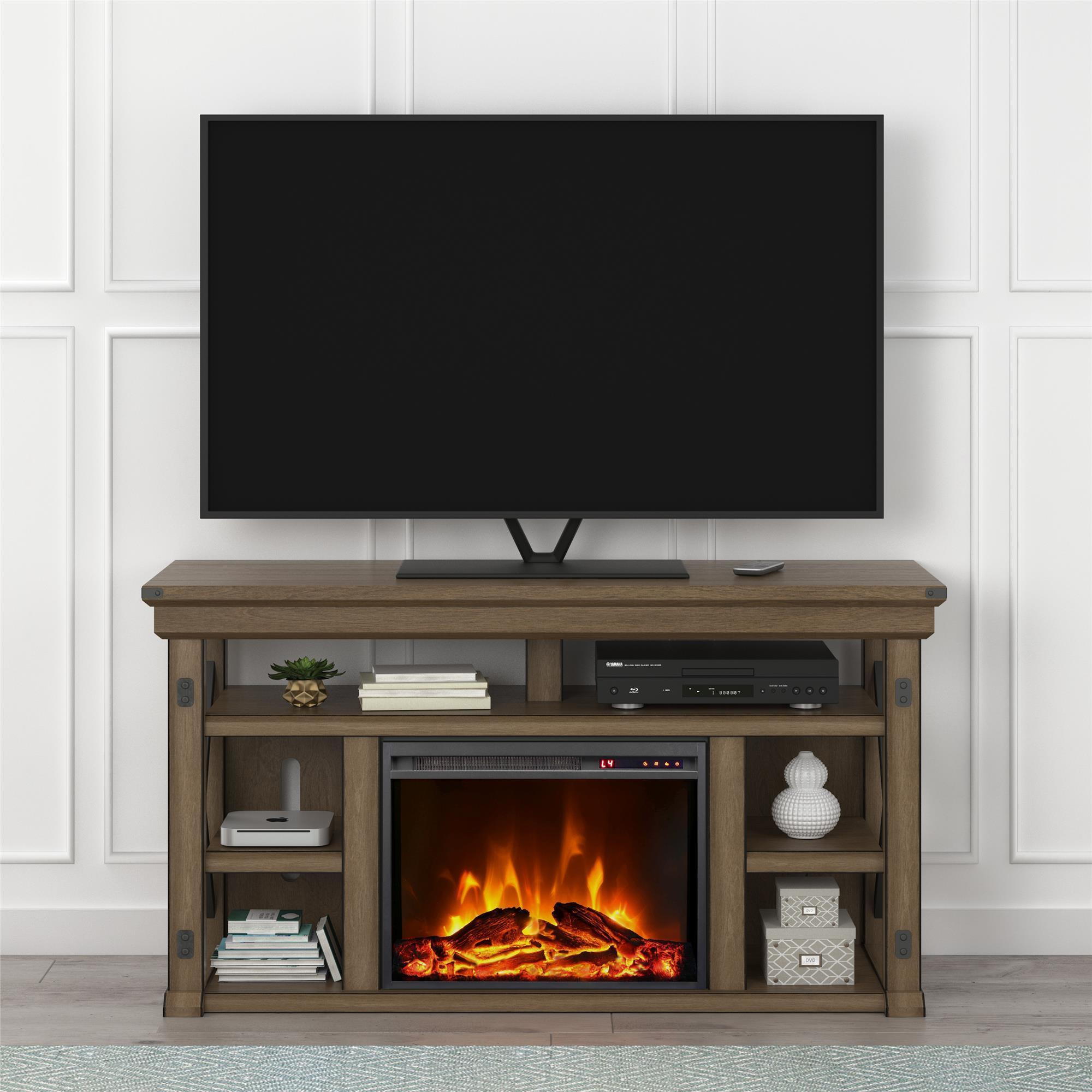 Shop Avenue Greene Woodgate Fireplace 60 Inch Tv Stand Free