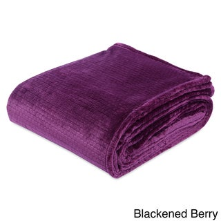 Berkshire Blanket Textured Squares VelvetLoft Blanket