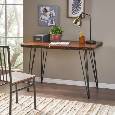 Remington Natural Wood Live Edge Writing Desk by Christopher Knight Home - Brown