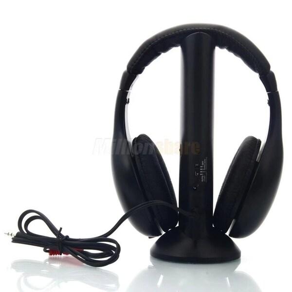 Shop 5in1 Wireless Headphone Headset for FM Radio Mp3 Mp4 TV