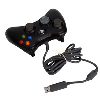 Wired USB Game Pad Controller For Microsoft Xbox 360 Black