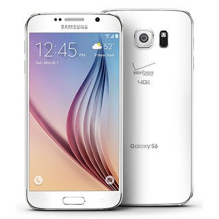 Samsung Galaxy S6 G920V 32GB Verizon CDMA 4G LTE Octa-Core Android Phone w/ 16MP Camera - White (Refurbished)