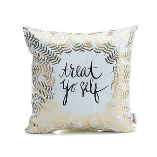 Flannel Pillow Case Treat Yourself 18 x 18