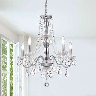 Porch & Den Cherrywood Randolph Chrome 5-light Crystal Chandelier