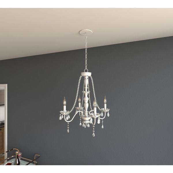 Porch & Den Cherrywood Randolph Chrome 5-light Crystal Chandelier