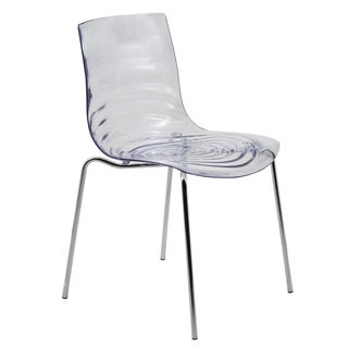 Lino Transparent Clear Acrylic Dining Chairs Set Of 2