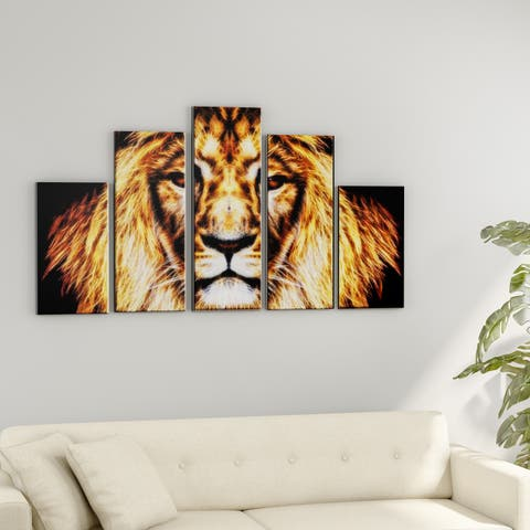 Porch & Den 'Hear Him Roar' Large Gallery Wrapped Canvas Art