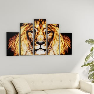 Porch & Den Hear Him Roar' Large Gallery Wrapped Canvas Art (2 options available)