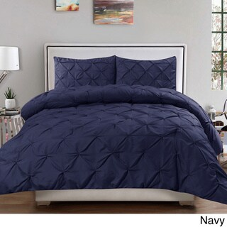 Porch & Den Woodland Springs Lakeshore Luxury 3-piece Pinch Pleat Duvet Cover Set