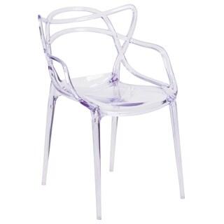 Porch & Den Stonehurst Gould Transparent Stacking Dining Chair
