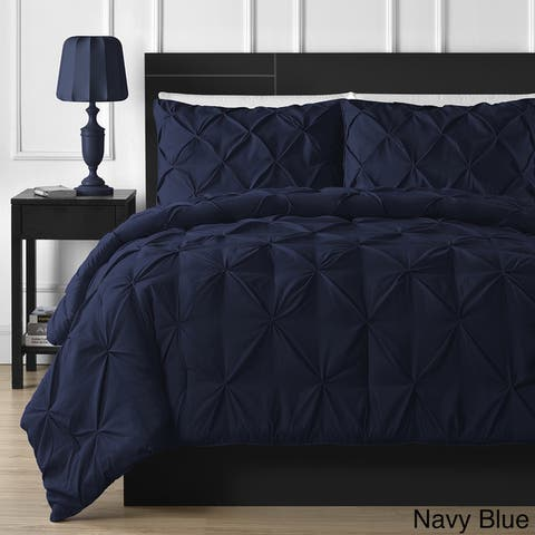 Porch & Den Fireback 3-piece Pinch Pleated Comforter